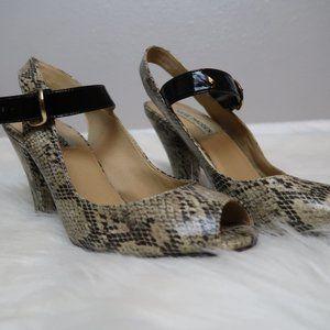 Steve Madden Tinah Slingback Snakeskin Heel